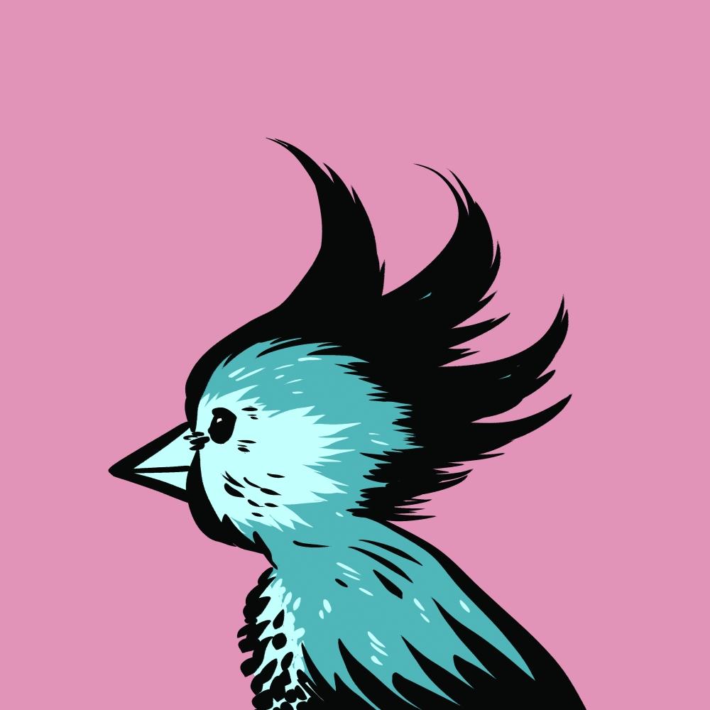 Eddie Monotone weird bird 10